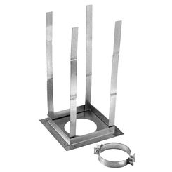 Click here to see M&G DuraVent 4GVRS DuraVent 4GVFS Type B Gas Vent 4-Inch Square Firestop Support