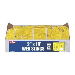 Click here to see S-Line 20-EE2-9802X10 S-Line 20-EE2-9802X10 Eye to Eye Twisted Web Lifting Sling, 2 in W x 10 ft L, 2-Ply, Loop End