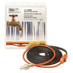 Click here to see Easyheat AHB-115A Easy Heat AHB Pipe Heating Cable With Thermostat, 1 in, 15 ft, 120 VAC, 0.9 A, 105 W
