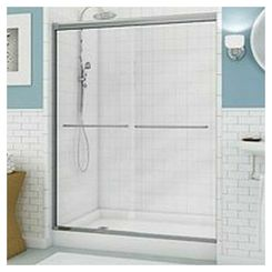 Click here to see Maax 135665-900-084 Maxx Session Everyday Style Sliding Shower Door, 54 - 59-1/2 in W X 71 in H X 1/4 in T