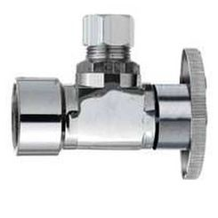 Click here to see Plumb Pak PP46PCLF Plumb Pak PP46PCLF 1/4 Turn Angle Stop Valve, 1/2 X 1/4 in, FIP X OD, Brass Body
