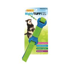 Click here to see Rhode Island 80622 Rhode Island 80622 Ruffin It  Mighty Tuff Dog Toys, Dental  Ribbed Bone Tug