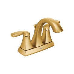 Click here to see Moen 6901BG MOEN 6901BG VOSS TWO HANDLE LAV FAUCET BRUSHED GOLD