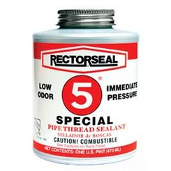 Click here to see Rectorseal 26390 RECTORSEAL 26390 RECTORSEAL #5 SPECIAL THREAD SEALANT 1 QUART