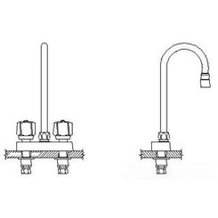 Click here to see Delta 27T4841 DELTA 27T4841 COMMERCIAL TWO HANDLE BAR/PREP FAUCET CHROME
