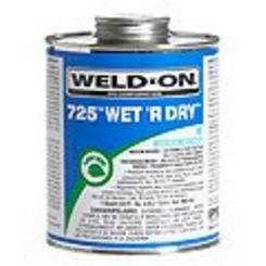Click here to see IPS  IPS 10850 BLUE 725 WET'R DRY 1/4 PINT GLUE MEDIUM BODY FAST