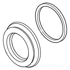 Click here to see Delta RP72726 DELTA RP72726 PART HANDLE FLANGE & GASKET CHROME