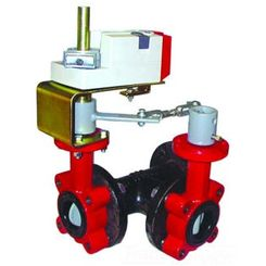 Click here to see Honeywell VFF3TV1YXR Honeywell VFF3TV1YXR 3-Way 18-Inch Resilient Seat Butterfly Valve