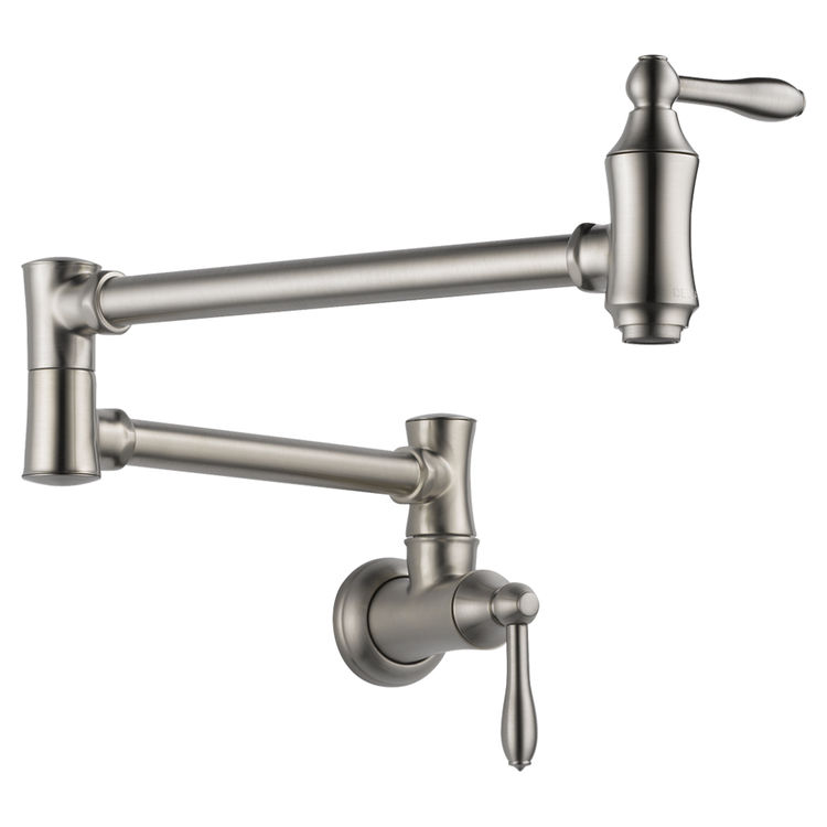 View 2 of Delta 1177LF-SS Delta 1177LF-SS Stainless Steel Wall-Mounted Pot Filler Faucet