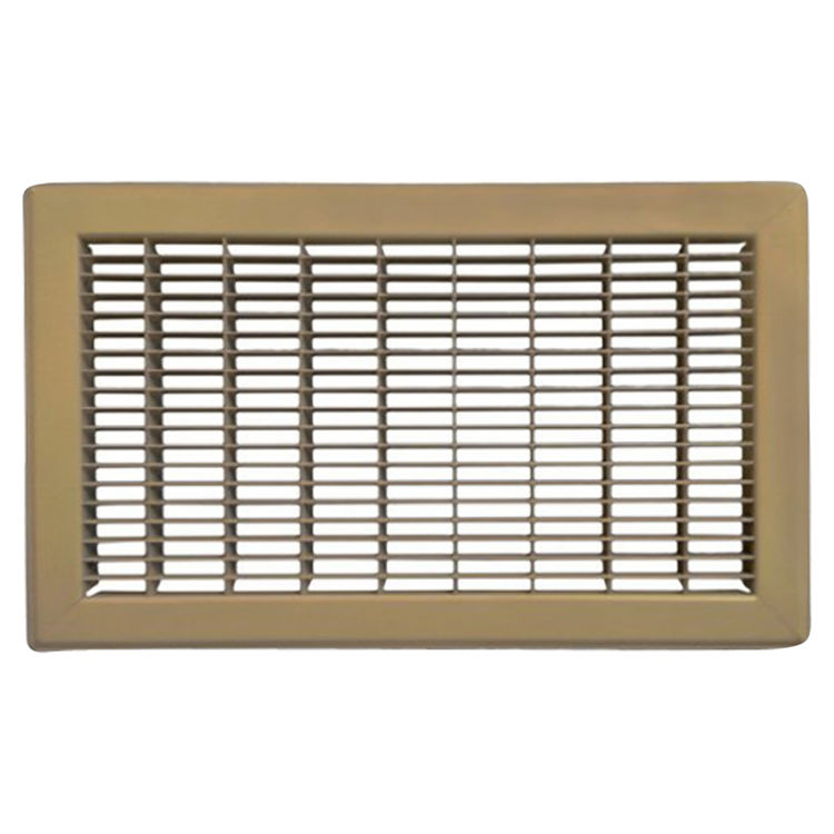 View 2 of Shoemaker 1600-24X12 24X12 Driftwood Tan Vent Cover (Steel Honeycomb Construction) - Shoemaker 1600