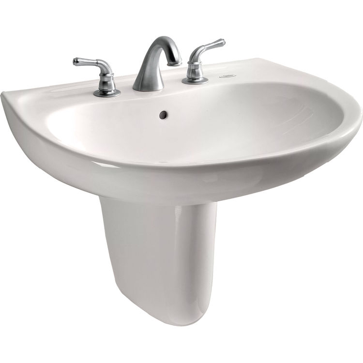 Toto LHT242.4G#11 Toto LHT242.4G#11 Prominence 26 x 22 Colonial White Lavatory Sink and Shroud