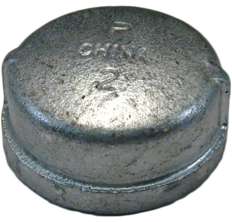 Commodity  GALCAP2 Galvanized Cap, 2 Inch