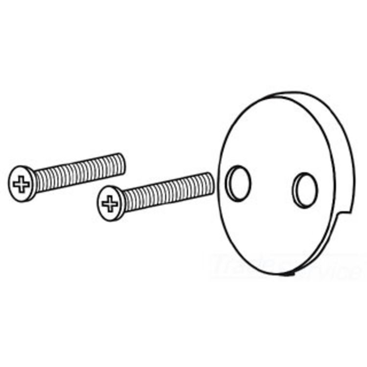 Champagne Bronze Delta-RP31556CZ Overflow Plate and Screws