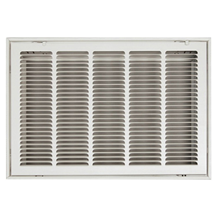 View 2 of Shoemaker FG2-18X10 18x10 Soft White Stamped Face 2 Inches Filter Grille (Steel) - Shoemaker FG2