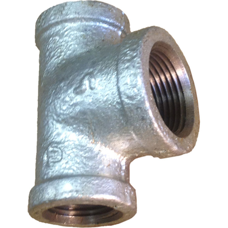 Commodity  GALT121234 Galvanized Tee, 1/2 x 1/2 x 3/4 Inch