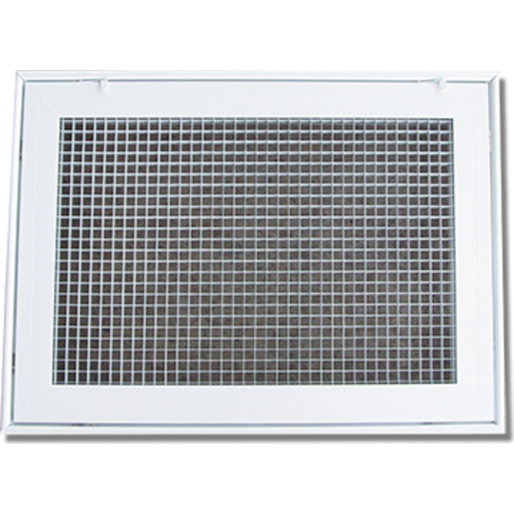 View 2 of Shoemaker 620FG1-18X16 18X16 Soft White Lattice Filter Grille with Steel Frame - Shoemaker 620FG Series