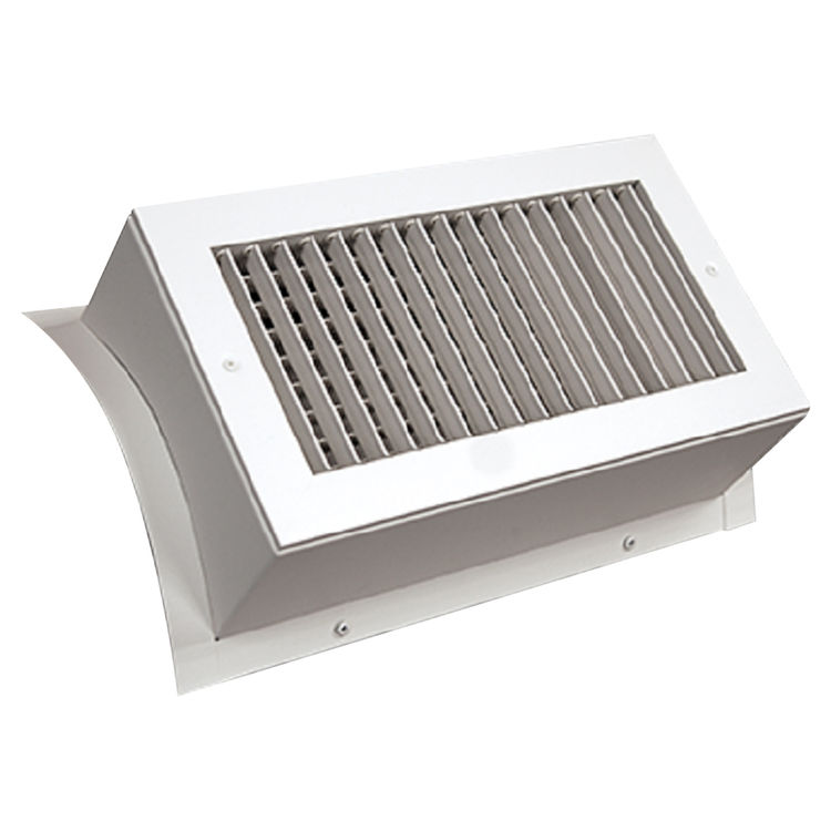 View 2 of Shoemaker SD34-0-24X6 24X6 White Vent Cover (Steel)-Shoemaker SD34-0 Series