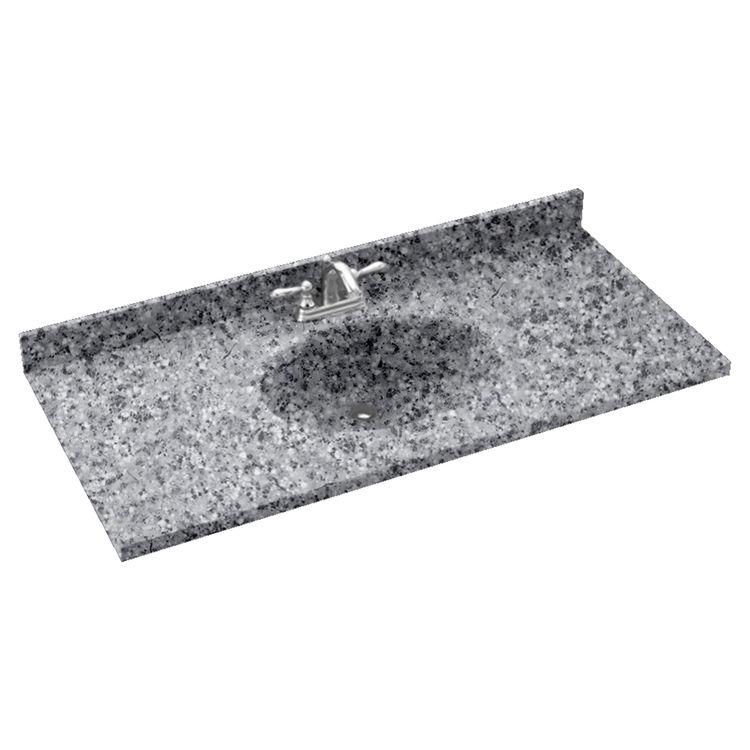 Swanstone Ch1b2243 042 Chesapeake Gray Granite Vanity Top
