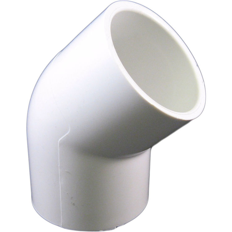 Commodity  PVCL45112 Schedule 40 PVC 45 Degree Elbow, 1-1/2 Inch