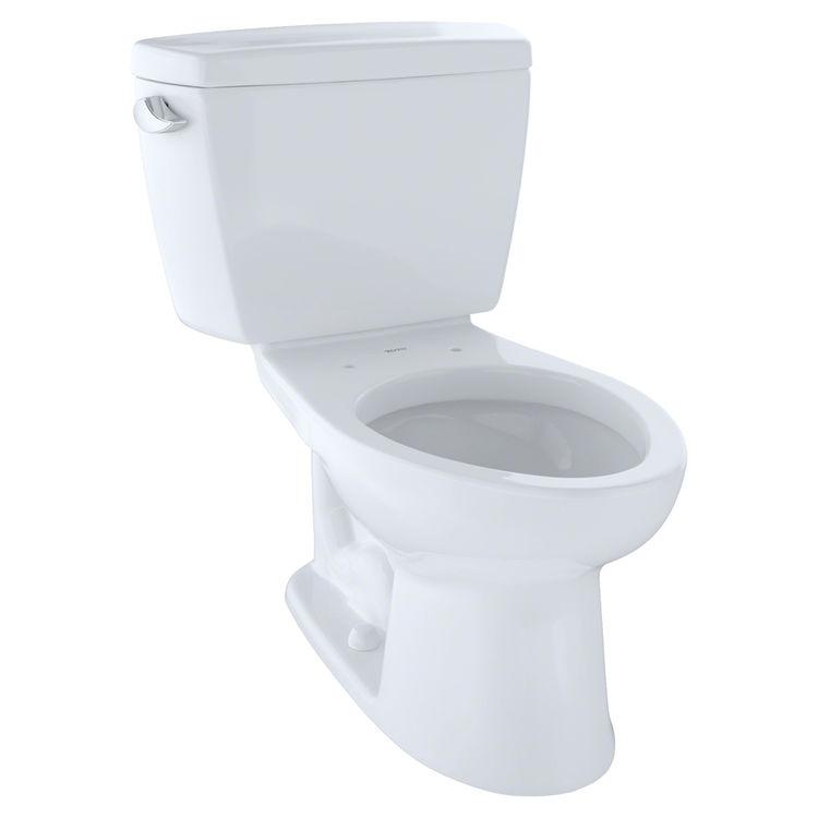 View 2 of Toto CST744S#01 TOTO Drake Two-Piece Toilet - 1.6 GPF , Elongated, Cotton White - TOTO CST744S#01