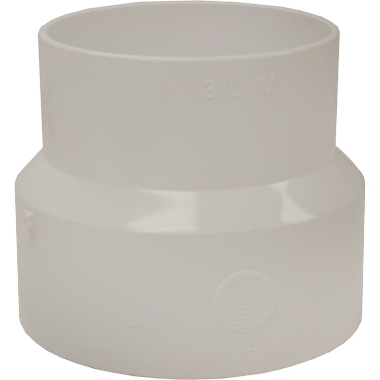 Commodity  4x3 Inch PVC Sewer & Drain Adapter Coupling