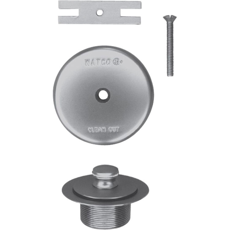 Watco 58190-CP Watco 58190-CP Lift & Turn Polished Chrome Single-Hole Overflow Plate Assembly