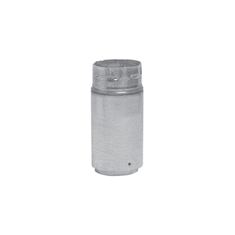 Metal-Fab 3P4AB Metal Fab 3P4AB 3 Biomass Chimney L Vent Black Adapter (Male Lock)