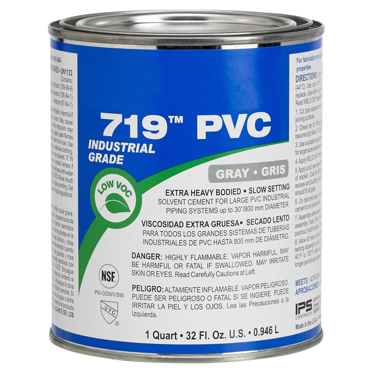 IPS 13078 Heavy Body PVC Cement Gray Gallon Slow Set