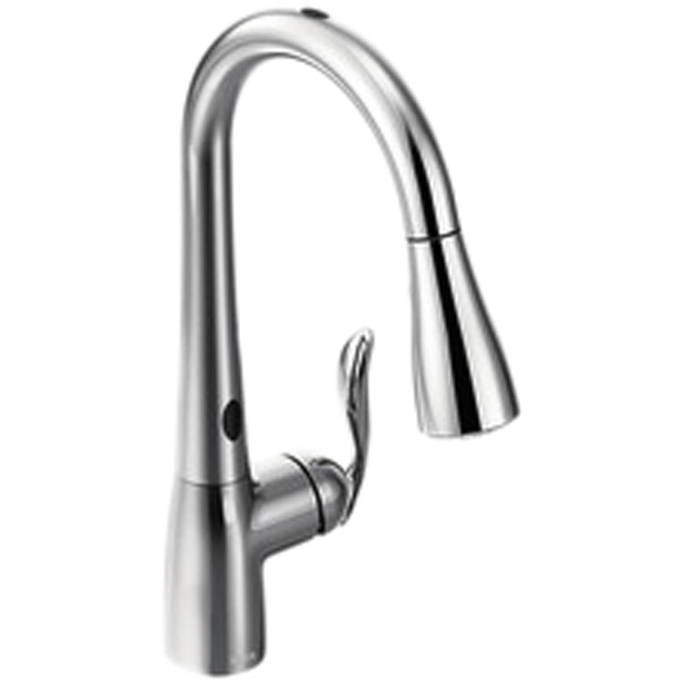 View 2 of Moen 7594EC Moen 7594EC Chrome Arbor Single Handle Pulldown Kitchen Faucet