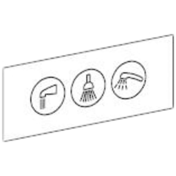 Moen 100087 Moen Commercial 100087 3 Function Transfer Valve Shower Function Label
