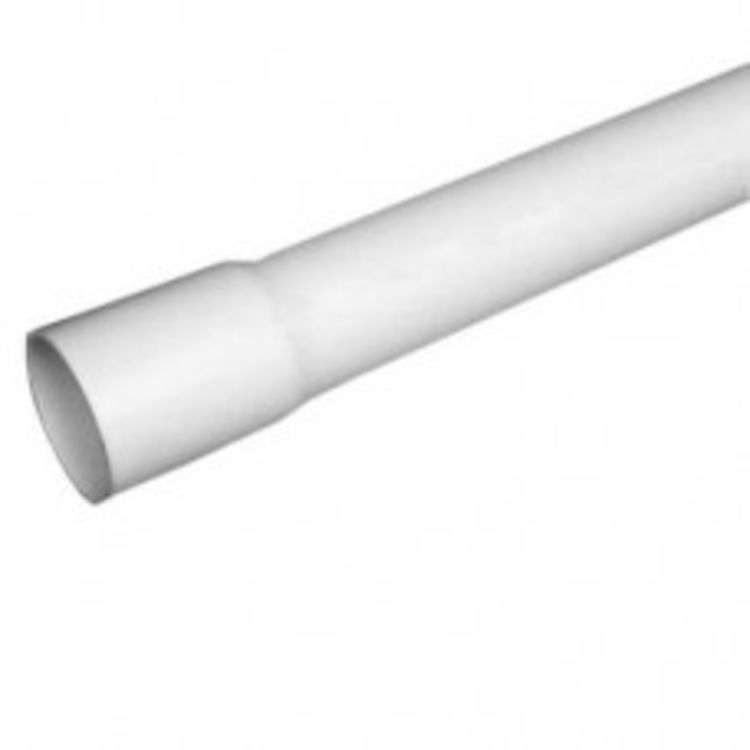 6 Inch Schedule 40 PVC Pipe, 5 Foot Length - Bell End