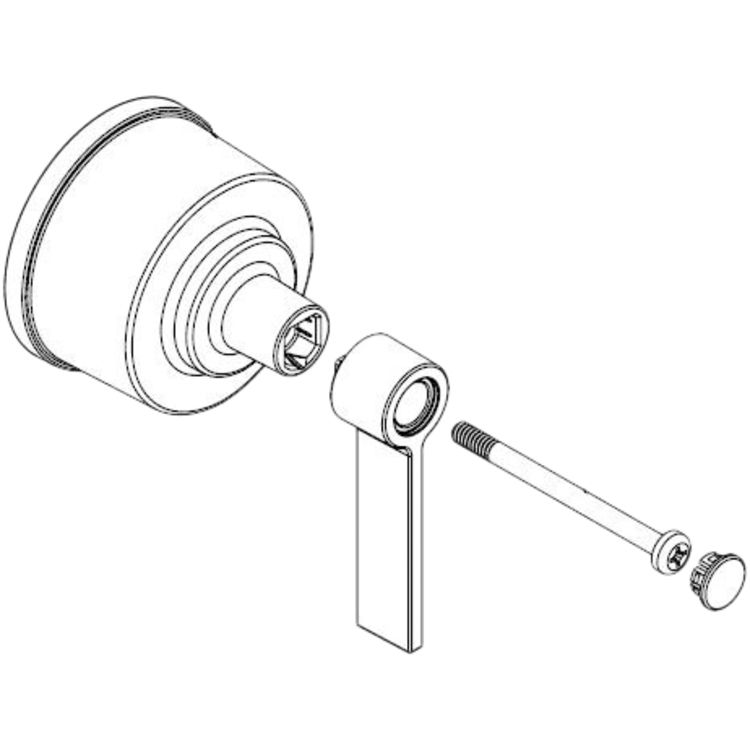 Moen 123812 Moen 123812 Part Lever Handle Kit, Posi-Temp Tub and Shower