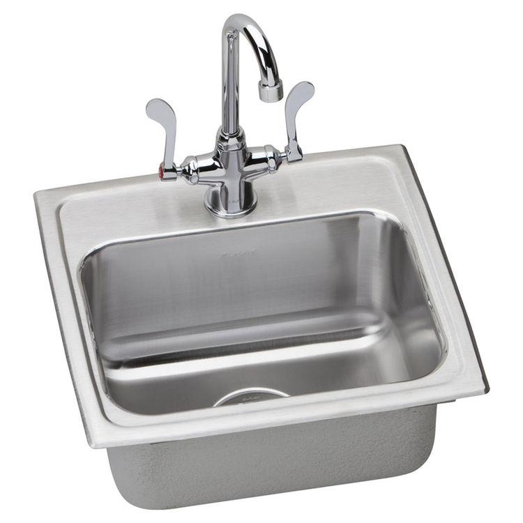 Elkay Lustertone LR17163 Single Bowl Top Mount Stainless Steel Sink
