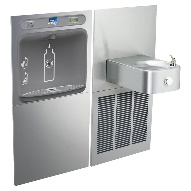 Elkay LZWS-SS8K EZH2O Bottle Filling Station, Single Fountain Combo