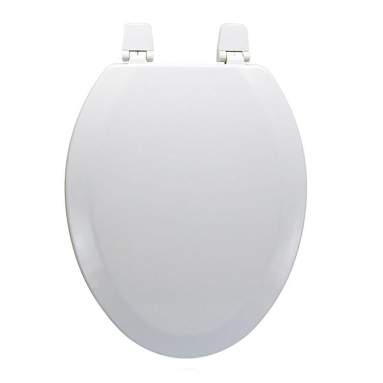 Jones Stephens C014wd04 White Elongated Wood Toilet Seat