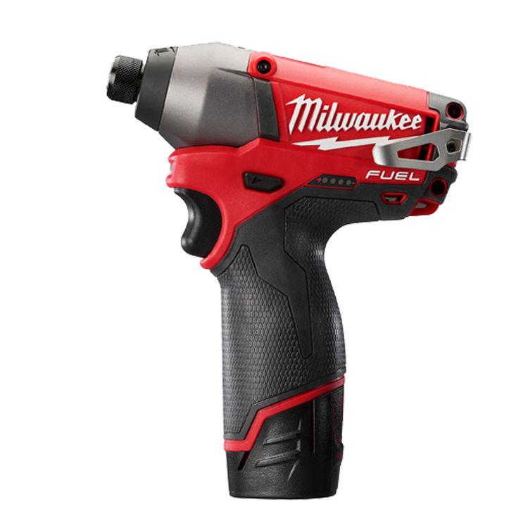 Milwaukee 2453-22 Milwaukee M12 Cordless Impact Driver Kit, 12 V, Lithium-Ion, 2 Ah, 0 - 2700/0 - 3550 bpm