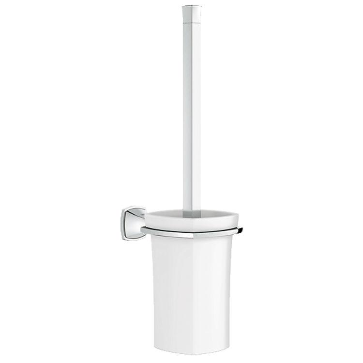 View 2 of Grohe 40632000 GROHE 40632000 Grandera Toilet Brush Set, Starlight Chrome