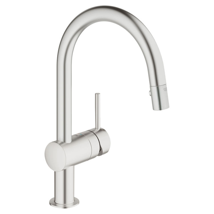 Grohe 31378DC0 Minta Pullout Spray Kitchen Faucet Supersteel Infinity