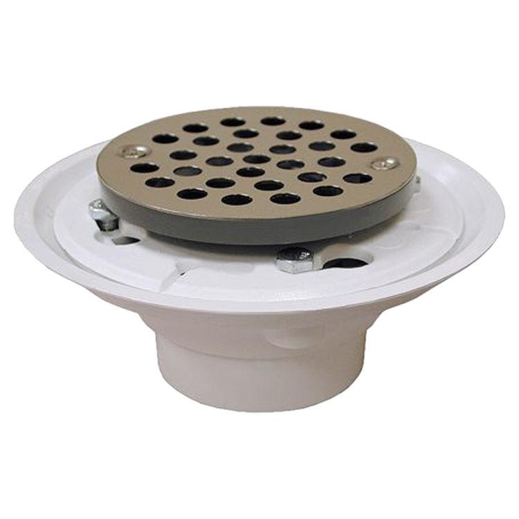 Jones Stephens D50001  2X3 Pvc Shower/Floor Drain W/Ss Str