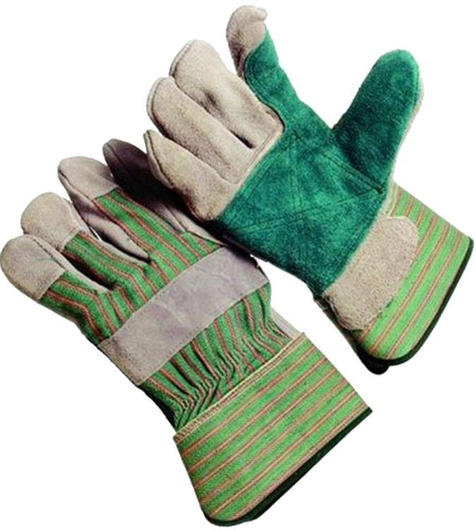Jones Stephens G50204 Green Leather Safety Cuff Glove