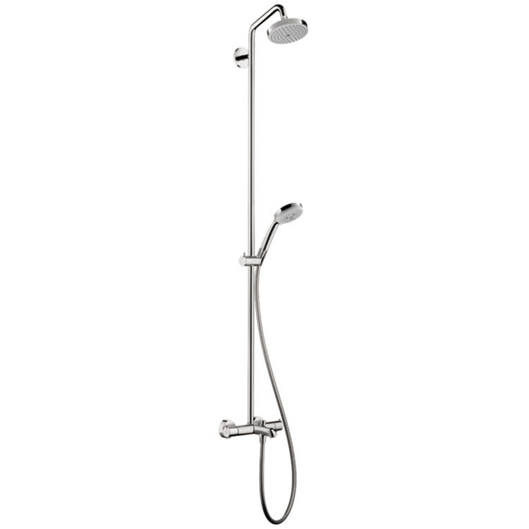 View 2 of Hansgrohe 27143001 Hansgrohe 27143001 Croma Showerpipe 150 1-Jet with Tub Filler, 2.0 GPM - Chrome