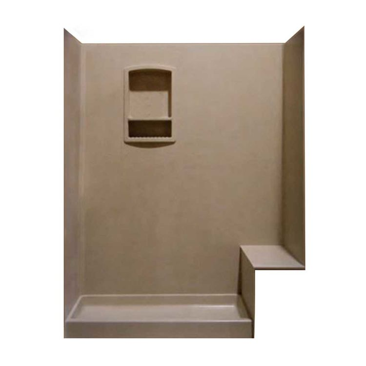 Swanstone BK326072-130 Shower Kit with Bench Seat, 32\