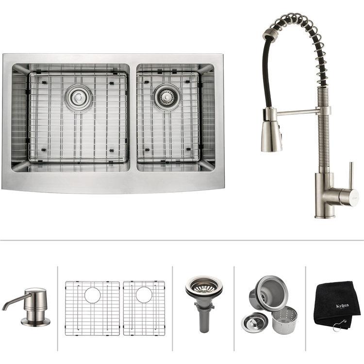 Kraus Khf203 33 Kpf1612 Ksd30ch Kitchen Sink And Faucet Combo