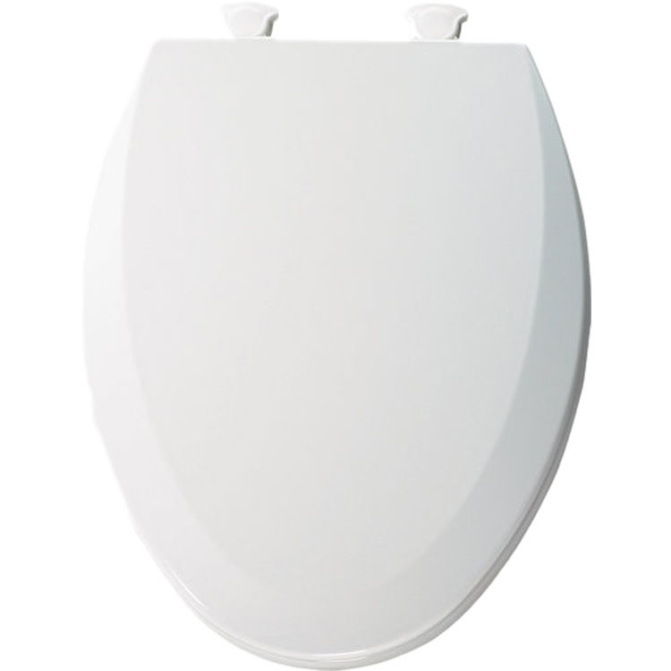 Superb Bemis 1500Ec 000 White Closed Front Elongated Toilet Seat With Cover Caraccident5 Cool Chair Designs And Ideas Caraccident5Info