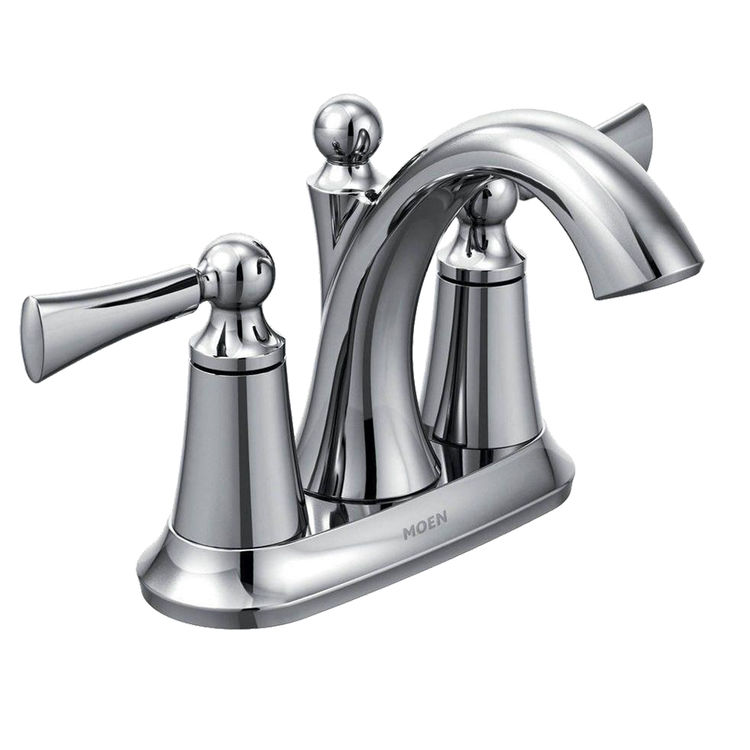 Moen 4505 Moen 4505 Wynford Chrome Two Handle Lavatory Faucet