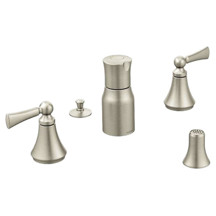 Moen T5245BN Moen T5245BN Wynford Brushed Nickel Two Handle Bidet Faucet Trim