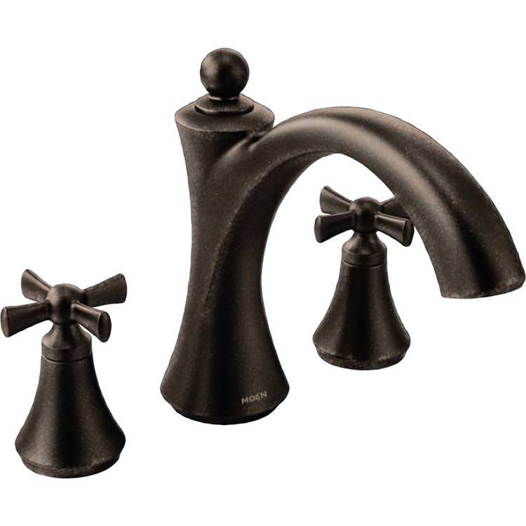 Moen t657orb wynford oil rubbed bronze roman tub faucet trim - Moen rubbed bronze bathroom faucets ...