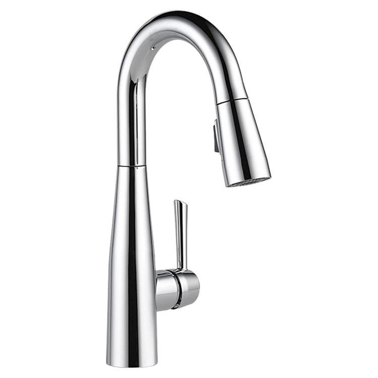 Delta 9913-DST Delta 9913-DST Chrome Single Handle Pulldown Bar Faucet
