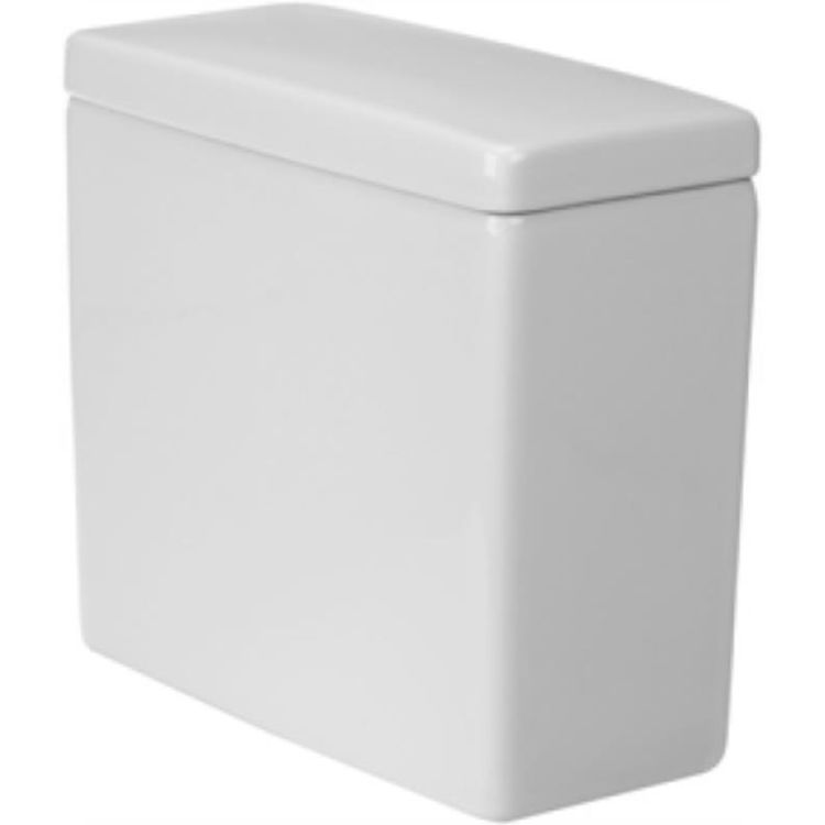 View 2 of Duravit 920400004 Duravit 0920400004 Starck 3 Single-Flush White Toilet Tank with Side Lever