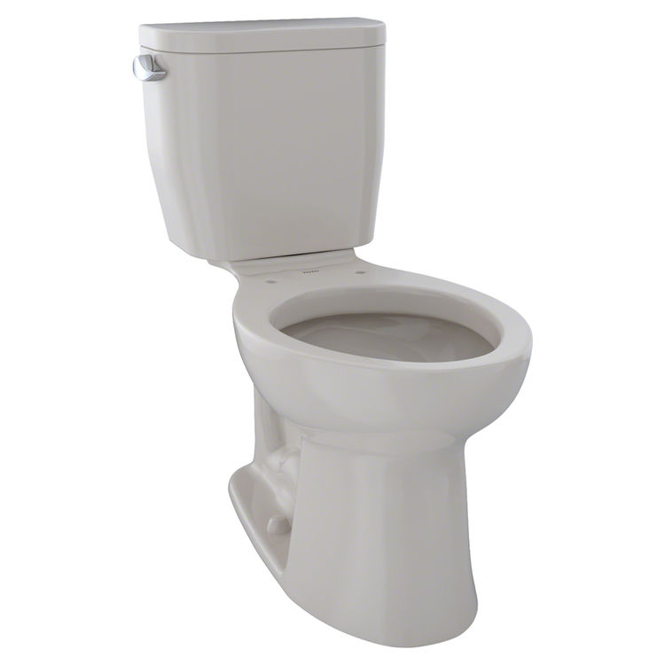 View 2 of Toto CST244EF#12 TOTO Entrada Two-Piece Elongated 1.28 GPF Universal Height Toilet, Sedona Beige - CST244EF#12